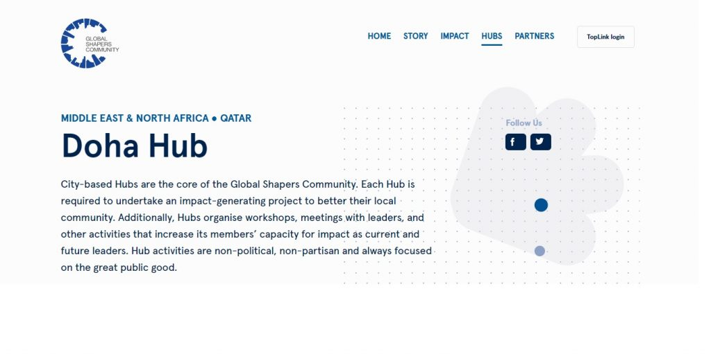 Curator – Global Shapers Doha Hub